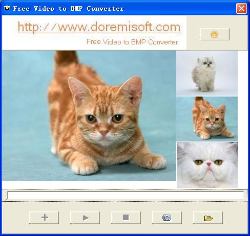 Interface of Free Video to BMP Converter